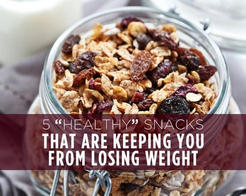 5 Healthy Snacks That Could Sabotage Your Weight Loss