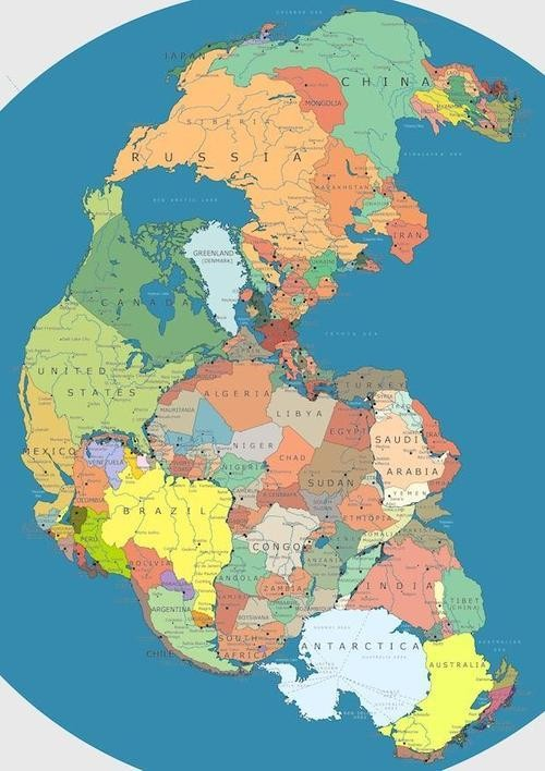 Travel Would Be Way Easier if the World Still Looked Like This Map of Pangea