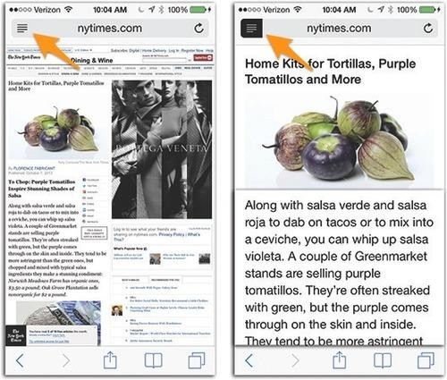Make Webpages Easier to Read on the iPhone with a Single Tap