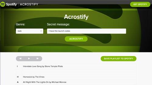 Acrostify Lets You Send Secret Messages Through Your Spotify Playlist