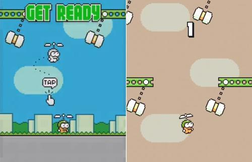 Download the Official Flappy Bird Sequel — Swing Copters — Right Now