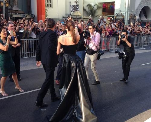 Following Angelina and Brad Down the Chaotic 'Maleficent' Red Carpet