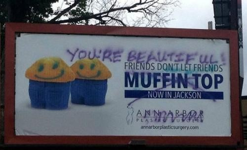 'Muffin Top' Billboard Inspires Ire — and Vandalism