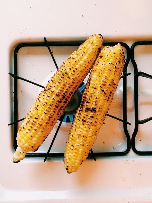 Roast Corn Right on Your Oven Burner