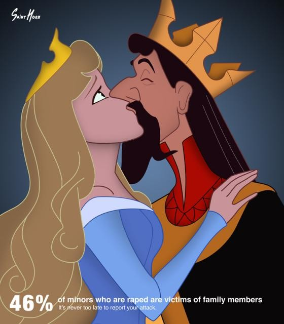 Disney Princesses Used in Sexual Assault Awareness Posters