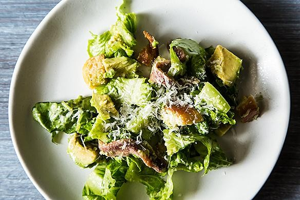 Steak and Avocado Caesar Salad for the Win