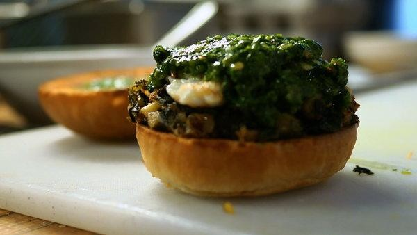 Northern Spy's Kale and Egg Sandwich