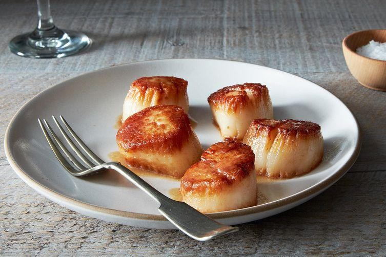 Pan-Seared Scallops + Grape Pilaf = Dinner