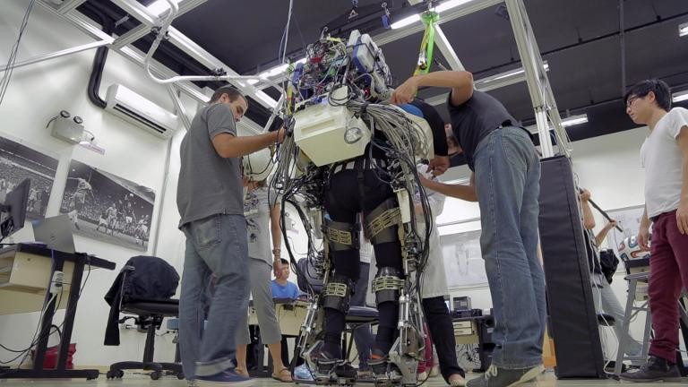Paraplegic Man in Mind-Controlled Exoskeleton Kicks Off World Cup