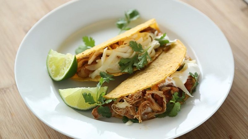 Spicy Slow-Cooker Chicken Tacos