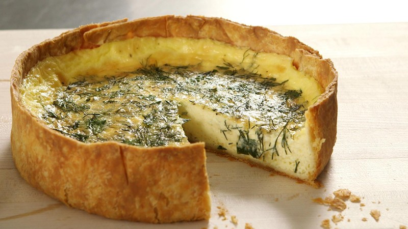 Deep Dish Fresh Herb Quiche