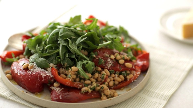 Anchovies + Roast Red Peppers = Punchier Salads
