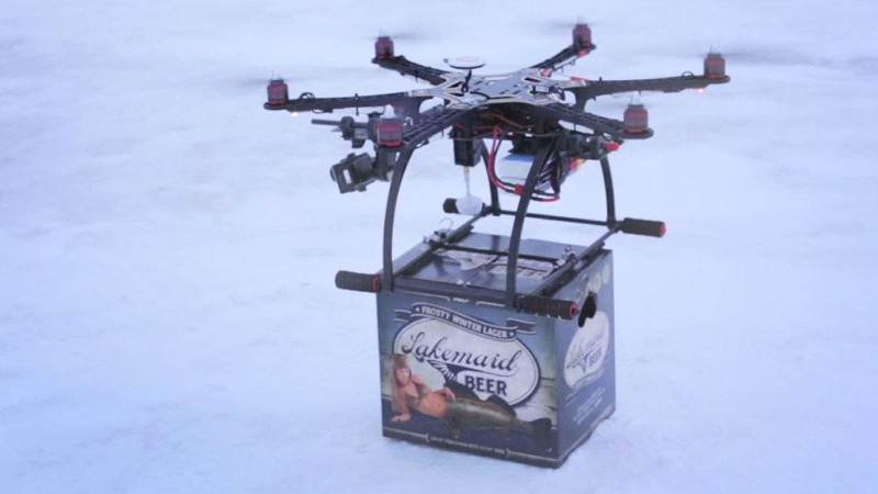 Drone Delivers Beer to Ice Fishermen, FAA Calls
