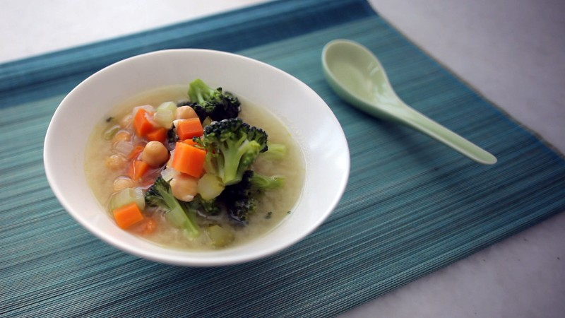 Vegetable-Miso Soup with Chickpeas (for Breakfast!)