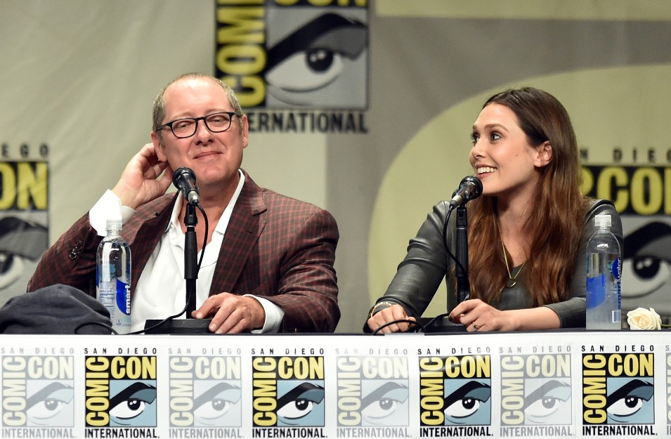 James Spader and Elizabeth Olsen