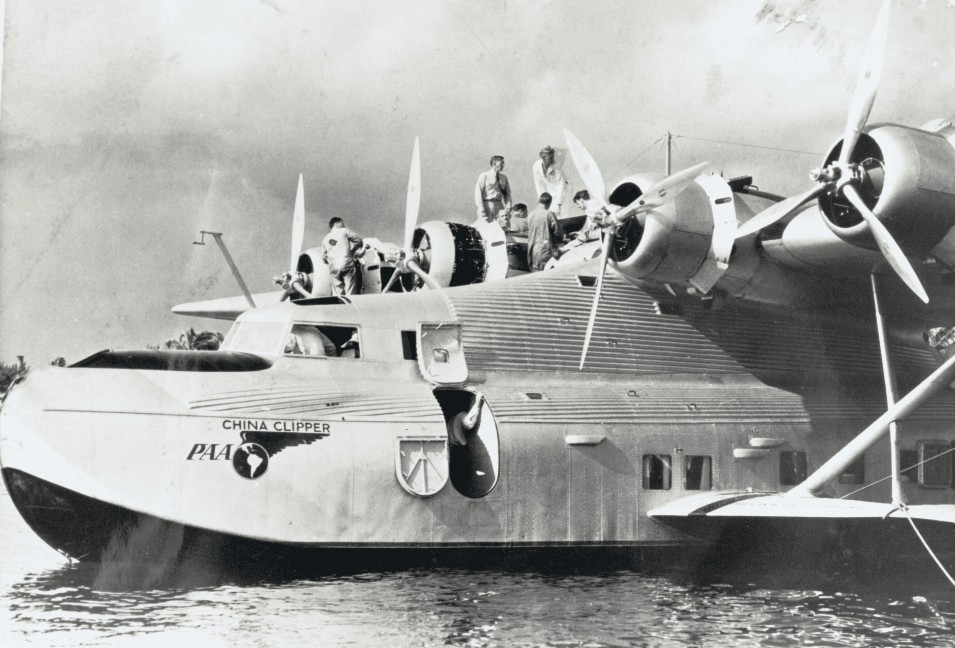 "The Martin M-130 flying boat, a.k.a, the ""China Clipper."""