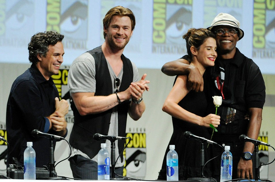 Mark Ruffalo, Chris Hemsworth, Samuel L. Jackson, and Cobie Smulders