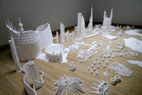 Sugar Metropolis Built from 500,000 Sugarcubes Is Pretty Sweet