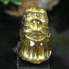 孟宸水晶 = S433 (貔貅100%天然粗版鈦晶雕刻墜)