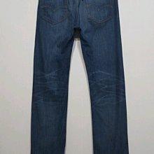 專櫃品牌 Levis 505 牛仔褲 窄直筒 彈性布料-男款-藍-32腰【JK嚴選】