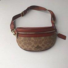 空姐精品代購 COACH 39937 新款女士SELENA聯名款 BELT BAG 腰包 時尚復古拼色 附代購憑證