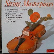 String Masterpieces,Albinoni,Bach,Pachelbel etc,弦樂作品集,含阿爾畢尼~慢板,巴哈~G弦之歌,帕海貝爾~卡農等。