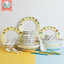 千夢貨鋪-碗碟套裝家用4/6人吃飯陶瓷卡通可愛餐具盤子碗創意好看飯碗面碗#陶瓷碗#碗套裝#盤子#廚房用品#勺子