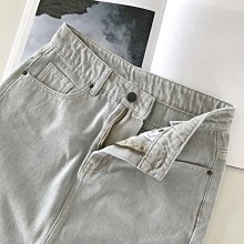 A字裙100%棉丹寧修身短裙 做舊復古水洗高腰半身裙牛仔裙 艾爾莎【TAE8339】
