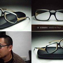 信義計劃 眼鏡 ICEBERG 冰山眼鏡 義大利製 膠框 金屬腳 大框 金色 超越 ic! 的Urban 和 Sean
