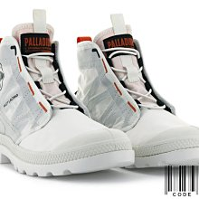 =CodE= PALLADIUM PAMPA TRAVEL LITE 綁繩針織輕量軍靴(白橘) 77039-116 女