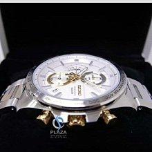 日本SEIKO 精工手錶  賽車運動風三眼計時視距儀石英腕錶 (SSB285P1)