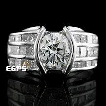【永久流當品】《EGPS》鑽戒 白K金 鑽石戒指 女戒 華麗美鑽 主石重1.01CT CF4939