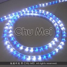 110V-三燈藍白光LED三線非霓虹燈50米 - led燈條 彩虹管 圓三線 非霓虹 水管燈 聖誕燈 管燈 條燈 裝飾燈