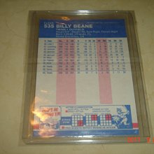 美國職棒 General Manager Billy Beane 魔球Money Ball 1987 Fleer 球員卡