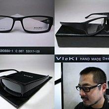 信義計劃 眼鏡 VIOKI 日本 手工眼鏡 霧黑磨砂消光啞光方正黑色方框 方形膠框 可配高度數小框 超越OP 角矢甚治郎
