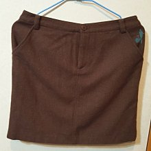 全新吊牌,日系品牌ersl 咖啡色羊毛短裙 40號,日本製