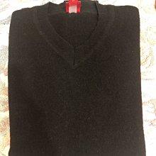 Esprit 黑色素面v領羊毛衫