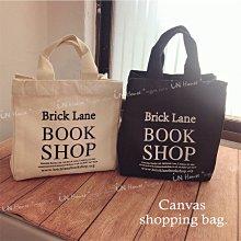 IN House*🇹🇼現貨 book shop 倫敦 書店 帆布 手提袋 帆布袋 收納袋 手提包 小物袋 便當袋