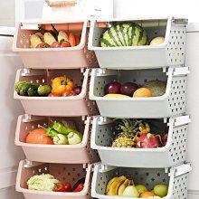 【AMAS】- 廚房置物架多層果蔬收納筐客廳菜架菜籃子家用零食收納架蔬菜落地