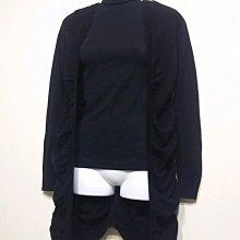 專櫃品牌 iROO 針織款 羊毛 毛衣外套 長板-女款-黑-36(S)【JK嚴選】鬼怪