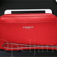 COACH 64976 Saffiano 防刮真皮手拿包萬用包放IPHONE手機 免運費愛COACH包包