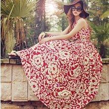 禮服 碎花裙 海邊風 波西米亞 背心長裙  雪紡洋裝 無袖洋裝度假沙灘裙西米亞長裙1F089.6612 胖胖美依