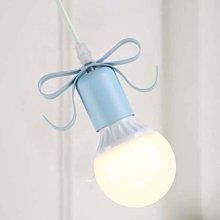 5Cgo【燈藝師】含稅會員有優惠520977791772田園餐廳吊燈北歐時尚創意書房吧臺咖啡廳蝴蝶結裝飾燈具--單頭
