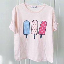 【現貨125-165】韓國童裝~春夏大童 BLUE TEEN 冰淇淋荷葉袖棉T 短袖上衣