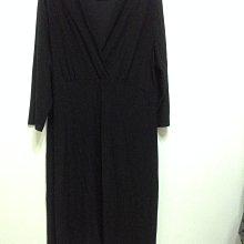 美國品牌AVENUE 大尺碼 黑色V領長袖洋裝  18/20號