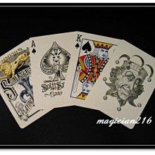 [絕版商品] 美國原廠Split Spade : Lions 大衛布萊恩獅子牌 Bicycle撲克牌~獨特優雅 優質呈現