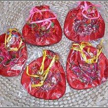 【雅之賞 藏傳 佛教文物】特賣* (5個)手工布藝刺繡繡花包零錢包 手串佛珠袋~800108