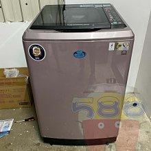 全景式強化玻璃上蓋《台南586家電館》台灣三洋18KG 變頻直立式洗衣機【SW-19DVG】