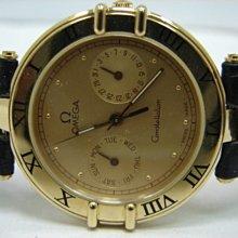 (板信當舖流當品) 少有 OMEGA 18K金 星座 男錶 9成5新 直購價50000元PR067
