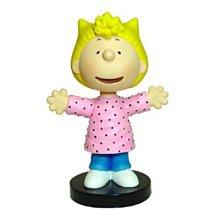 全新含盒SNOOPY史努比 美國 西島WESTLAND8156 SALLY 搖頭娃娃 小雕像 絕版品